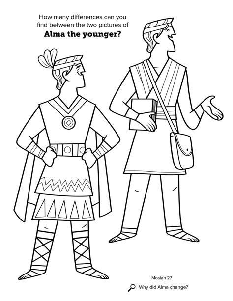 king benjamin coloring page alma the younger