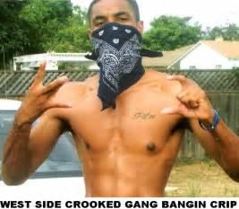West side crips gang sign same mural seen in la how stupid