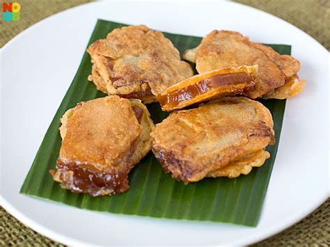 new year tikoy recipe nian gao sweet potato sandwich recipe noobcook