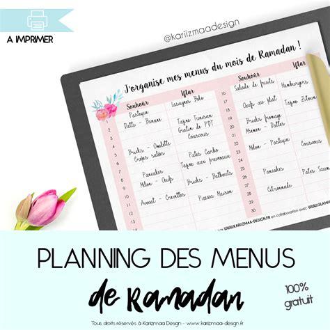 ramadan menu design planning des menus du ramadan kariizmaa design