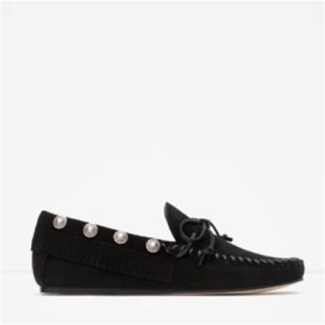 zara studded loafers zara zara studded leather loafers 38 eur 7 5 us from