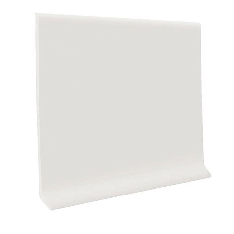 Dm016 Base 1 White roppe white 4 in x 1 8 in x 120 ft vinyl wall cove base coil c40c84p170 the home depot
