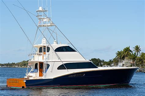 whiticar sport fishing boats 2005 used whiticar enclosed bridge sports fishing boat for