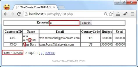 tutorial php sql php sql server search data paging pagination sqlsrv