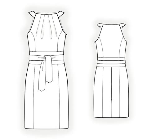 pattern drawing online dress with halter neck sewing pattern 4306 made to