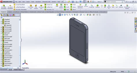 solidworks tutorial iphone tutorial making iphone 4s in solidworks part 5 grabcad
