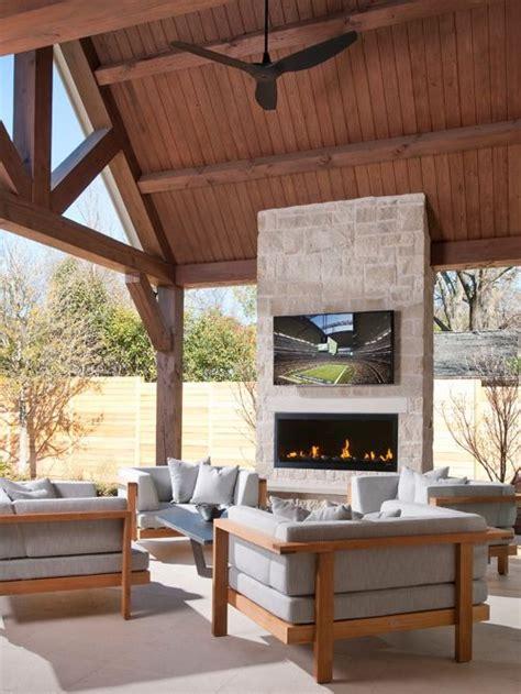 houzz tv show outdoor fireplace tv houzz