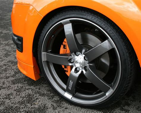 ford st bbs felgen electric orange ford focus st mk2 and grey rims