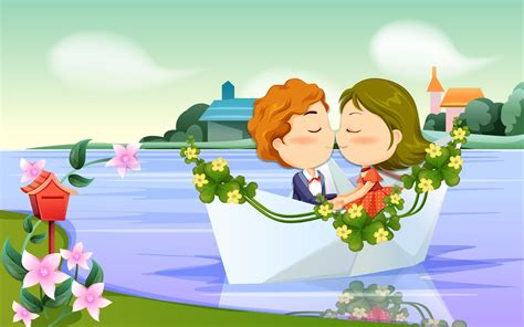 cartoon kissing wallpaper desktop cartoon wallpapers best romantic cartoons wallpaper 2012