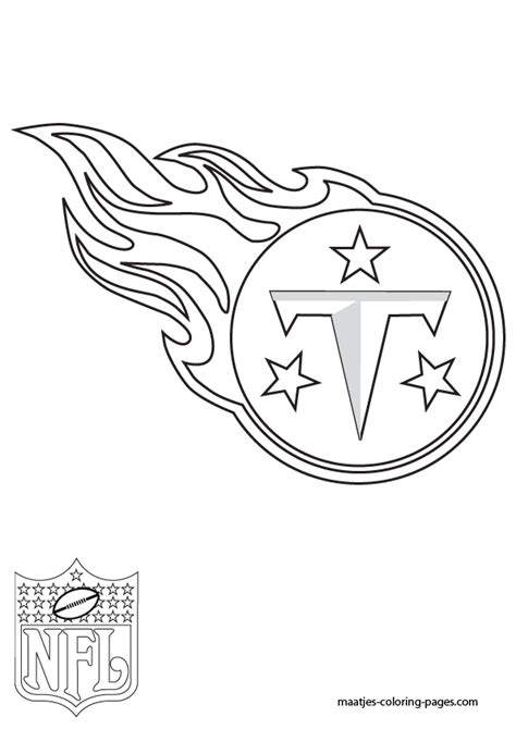 tennessee titans free colouring pages