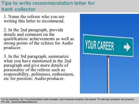 Collector Bank by Bank Collector Recommendation Letter
