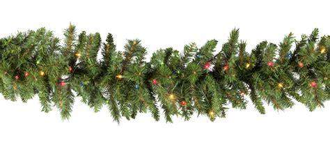 garland with lights lighted garland brighton fir prelit