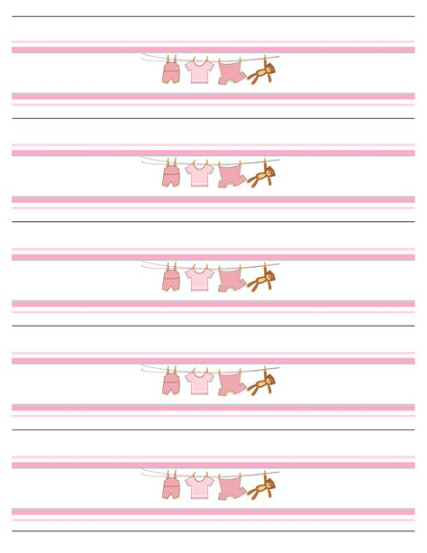 Baby Girl Shower Free Printables How To Nest For Less Water Bottle Baby Shower Labels Template