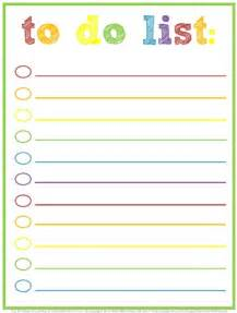 Printable To Do List Template Pics Photos Things To Do List Template
