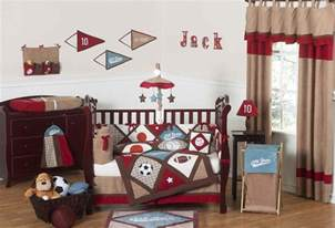 Crib Bedding Sports All Sports Baby Boy Crib Bedding 9pc Nursery Set Brown Blue