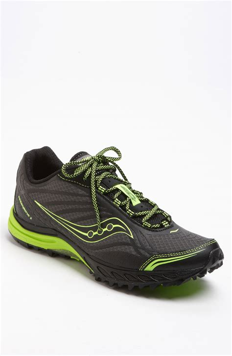saucony progrid peregrine 2 running shoe in black for