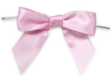 Gs154 Gstring Strapped Front With Ribbon pink 3 quot pre satin bows with 5 quot twist ties 7 8 quot ribbon 26105