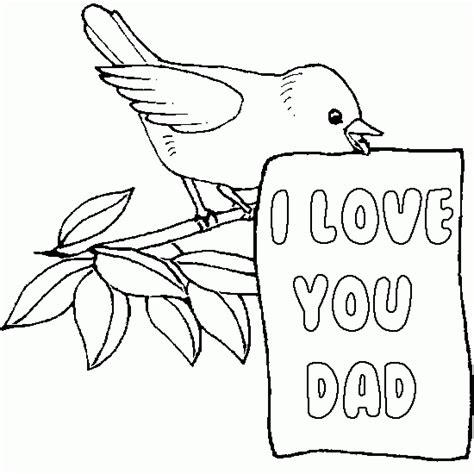 free coloring pages i love you dad coloring pages