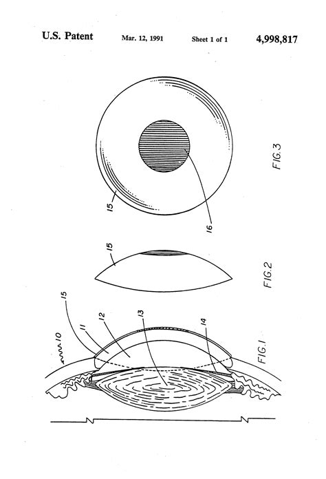 corrective lenses for color blindness patent us4998817 contact lens for correction of color