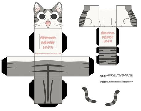 Cat Paper Craft - 17 best images about papercraft cat on