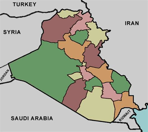 middle east map lizard point test your geography knowledge iraq provinces lizard point