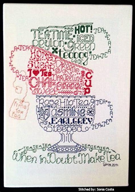 cross stitch pattern generator words let s do tea cross stitch pattern words