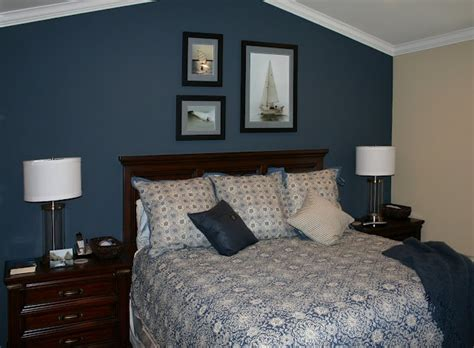 bedroom with blue walls dark blue accent wall decor ideas pinterest
