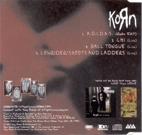 Adidas Korn For 2 3 4 a d i d a s uk cd single part 1 664204 2