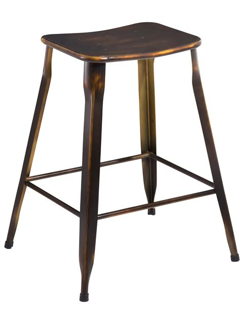 24 inch backless bar stools btexpert 24 inch industrial metal vintage stackable antique distressed copper slim backless