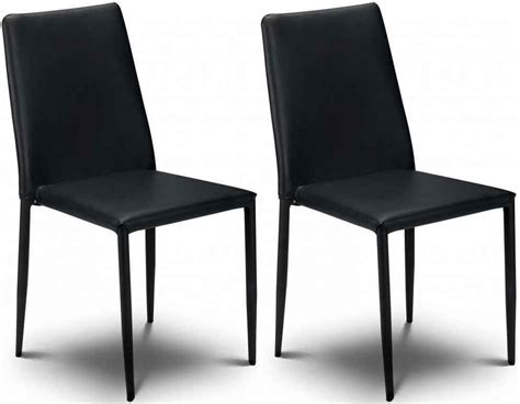 black faux leather dining chairs uk buy julian bowen jazz black faux leather dining chair
