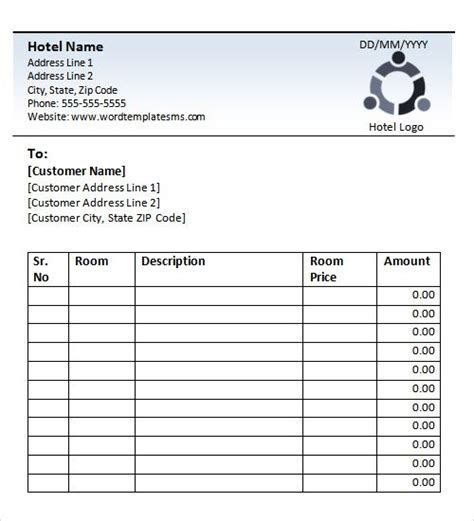 Receipt Of Accommodations Template by Blank Hotel Receipt Books Hotel Receipt Template