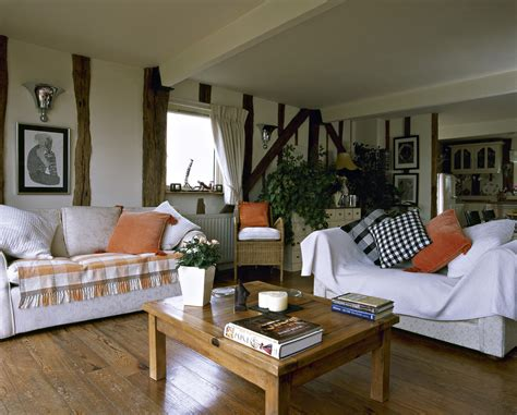 country livingroom orange white country living room living room design