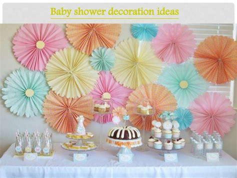 Baby Shower Slideshow Ideas by Easy Yet Simples Baby Shower Decoration Ideas