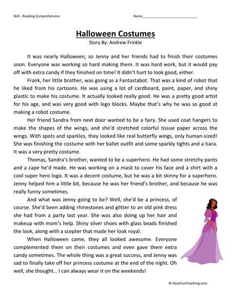printable halloween math worksheets for 4th grade reading comprehension worksheet halloween costumes