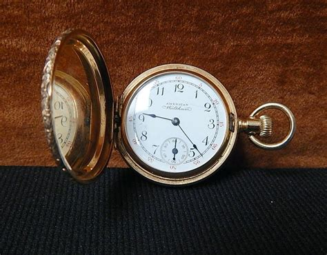 1897 antique 14k gold waltham pocket curiosity