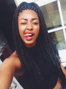 weave two duky braid hairstyle box braids let your weave hang low pinterest