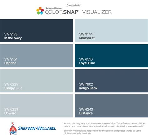 i found these colors with colorsnap 174 visualizer for iphone by sherwin williams in the navy sw