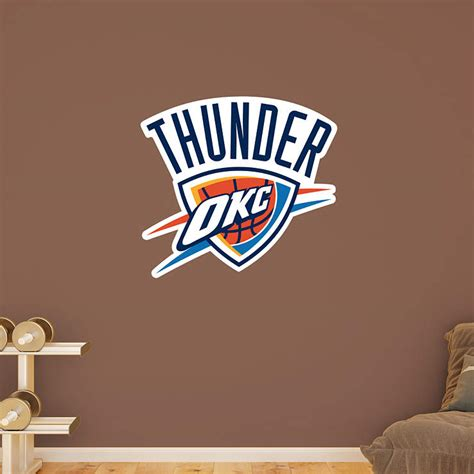 oklahoma city thunder logo wall decal shop fathead 174 for