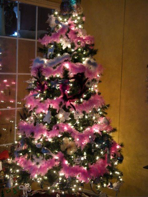 pink boa christmas tree theme christmas pinterest