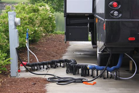 water electricity  sewer hooked    rv