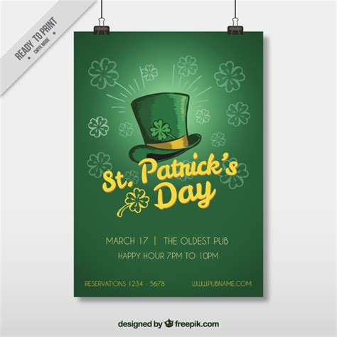 St Day Flyer Template Free st s day flyer template vector free