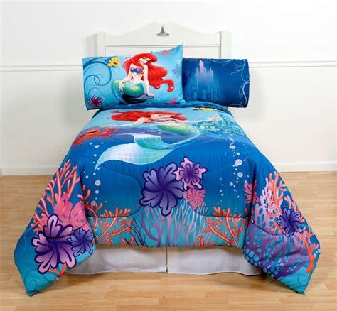 mermaid comforter girls twinfull size ariel childrens kids bedding ebay