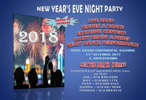 kuching new year buffet 22 best places to celebrate new year s in malaysia 2018