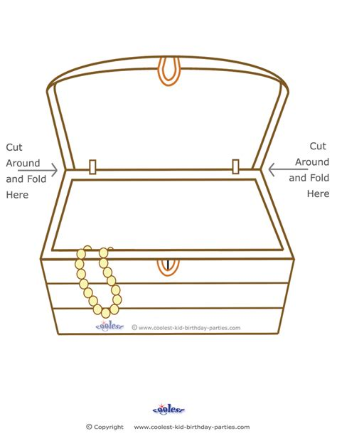 free outline of treasure chest coloring pages