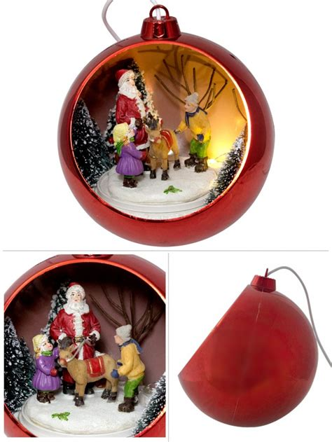 illuminated ornament rotating musical bauble with