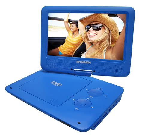 blue film mp3 video player amazon com sylvania 9 inch swivel screen portable dvd cd