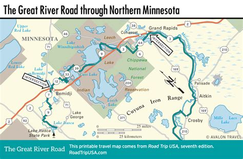road map of northern usa the great river road through minnesota road trip usa