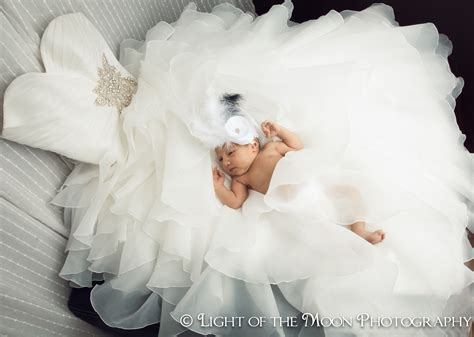 Wedding Anniversary Ideas With Newborn by Baby In S Wedding Dress How Cool Is This