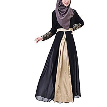 Maxi Dress Gamis Dress Muslim Wanita Felora Dress aivtalk muslim floral chiffon sleeves maxi
