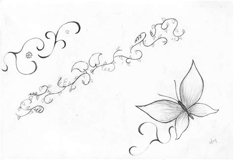 butterfly and vines tattoo designs vine tattoos